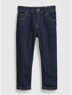 Toddler Elasticized Pull-On Easy Taper Jeans with Washwell™