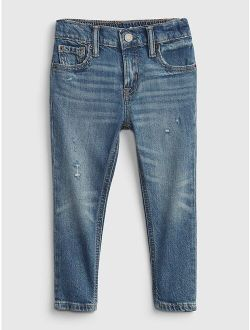 Toddler Easy Taper Distressed Jeans with Washwell™