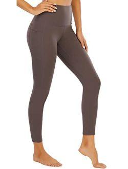 OUYISHANG Yoga Pants with Pockets for Women,Capri Leggings for Women Tummy Control Workout Leggings High Waist Legging