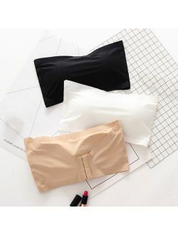 Women Seamless Bra Sexy  Fully Show Natural Beauty Of Female Breast Shape High-Quality Wide Push Up Crop Tops