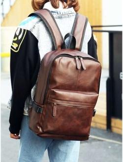 Men Solid Functional Backpack