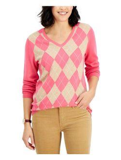 Cotton Argyle Sweater