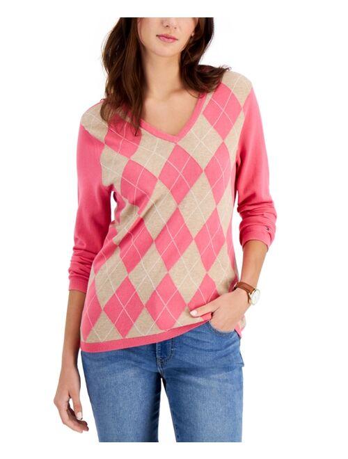 Tommy Hilfiger Cotton Argyle Sweater