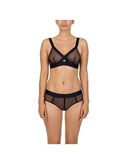 Women's Sheers Wirefree Softcup Bralette Bra