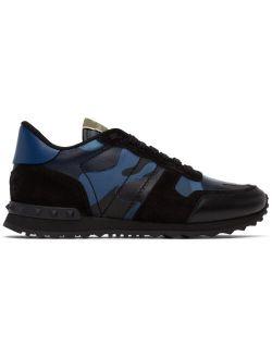 Blue & Black Camo Rockrunner Sneakers