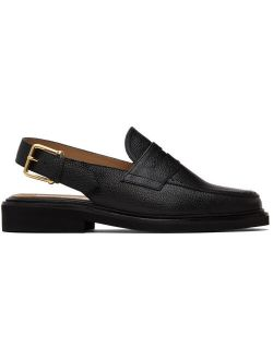 Thom Browne Black Slingback Micro Sole Penny Loafers