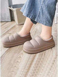 Men Fuzzy Slip On Slippers