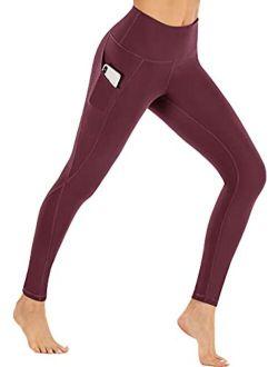 Ewedoos Fleece Lined Leggings with Pockets for Women- Thermal Winter Workout Leggings for Women Yoga Pants for Women
