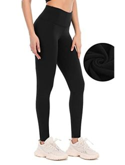 ATTRACO Fleece Lined Leggings Women Winter Thermal Insulated Leggings High Waist Workout Yoga Pants with Pockets