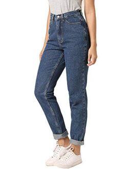 Ruisin Classic High Waist Jeans for Women Vintage Boyfriend Mom Jeans Denim Pants