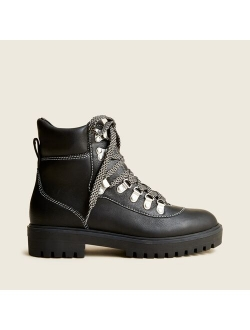 Lightweight leather Nordic boots