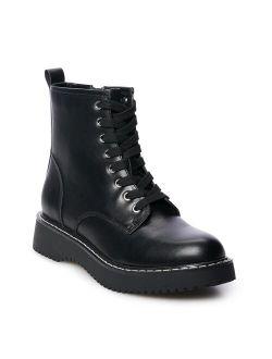 madden girl Kurrt Women's Combat Boots