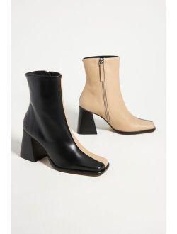 Alohas Two-Tone Heeled Ankle Boots