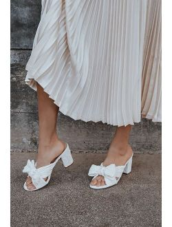Dorothea Rose Gold Knotted High Heel Sandals