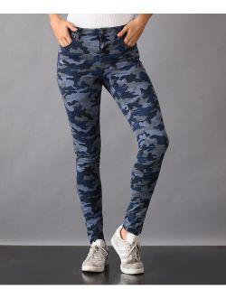 Blue Camouflage Skinny Jeans - Women & Plus