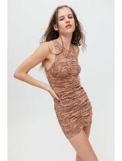 Motel Aeliran Ruched Bodycon Mini Dress