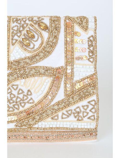 Lulus Bead the Best Ivory Beaded Clutch