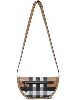 Burberry Brown Check Small Olympia Bag