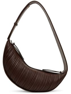 NEOUS Brown Pleated Orion Shoulder Bag