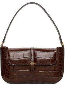 Brown Croc Miranda Bag