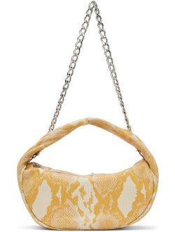 BY FAR Yellow Snake Baby Cush Bag