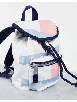 Tommy Jeans heritage flag backpack in multi