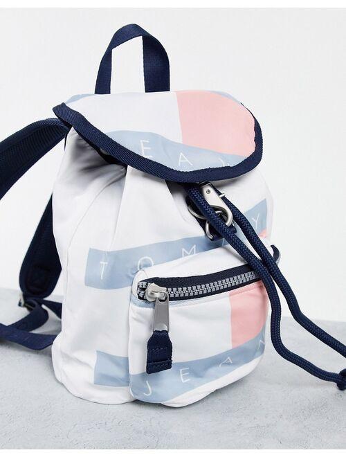 Tommy Hilfiger Tommy Jeans heritage flag backpack in multi