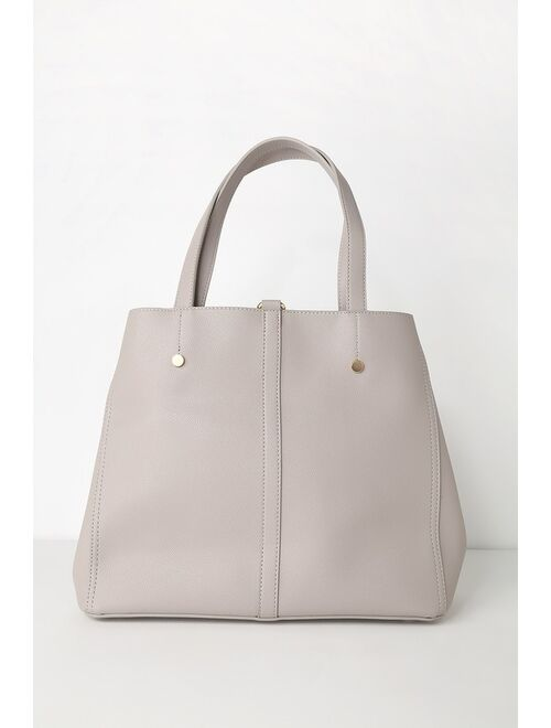 Lulus Back to Business Grey Tote