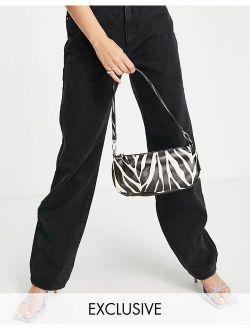 My Accessories London Exclusive 90s shoulder bag in zebra print