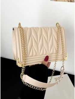 Minimalist Quilted Chain Shoulder Bag