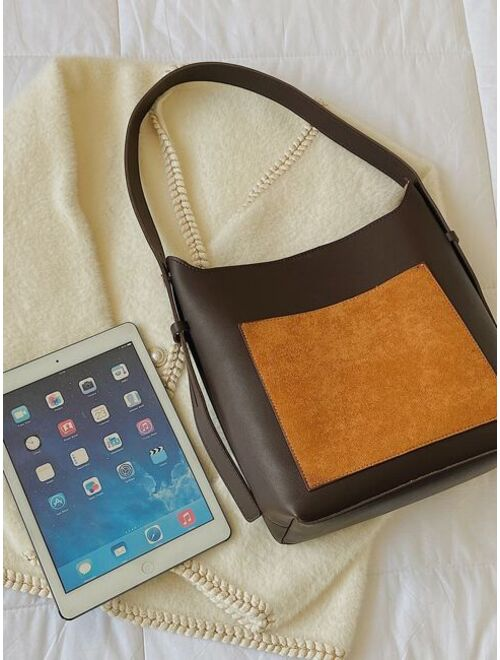 Shein Two Tone Crossbody Bag With Inner Pouch