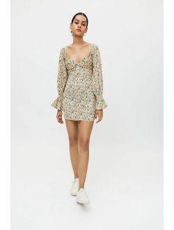 Kiss The Sky Floral Bardot Mini Dress
