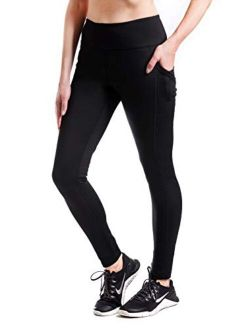 """Yogipace,Women's 25""""/28""""/31""""/34"""" Water Resistant Thick Thermal Fleece Lined Leggings"""