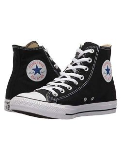 Chuck Taylor All Star High Top Sneaker, Black (white Sole), Size