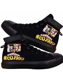 DHSPKN My Hero Academia Canvas Shoes Anime Deku Sneakers Izuku Todoroki Cosplay High-Top Shoes