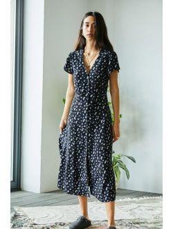 UO Floral Midi Shirt Dress