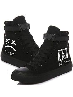 Unisex Adult Lil Peep Printed Canvas Shoes Casual Lace Up Sneakers Tennis
