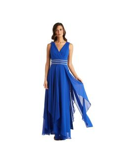 Petite R&M Richards Sleeveless V-Neck Dress