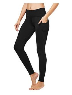 FitsT4 Women's High Waisted Fleece Lined Thermal Legging Tights Winter Yoga Pants with Pockets