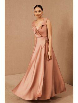 BHLDN Tansy Satin Maxi Dress