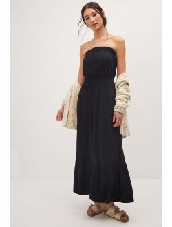 Daily Practice by Anthropologie Flounced Maxi Dress