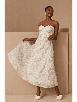Marchesa Notte Strapless Arabella Dress