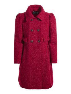 S Rothschild & CO S. Rothschild & Co. Big Girls Sparkle Bow Coat