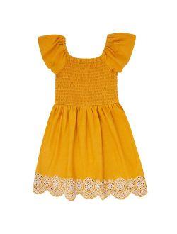 Girls 7-20 Speechless Ruffle Sleeve Embroidered Dress in Regular & Plus Size