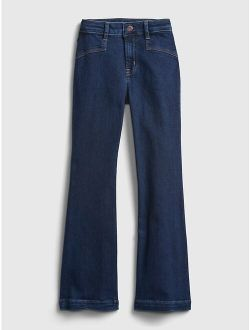 Kids High Rise Flare Jeans with Washwell ™