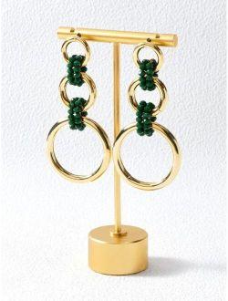 MOTF PREMIUM 14K GOLD PLATED ROUND DECOR EARRINGS