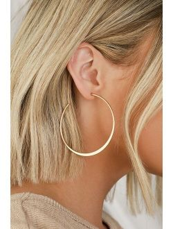Alter Ego Gold Hoop Earrings