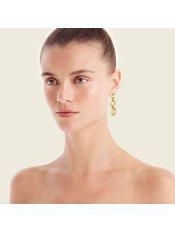 Hammered circles triple-drop earrings