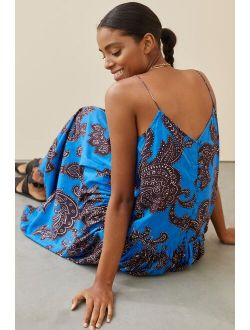 Atsu Flounced Paisley Midi Dress