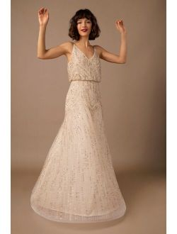BHLDN Fidelia Beaded Maxi Dress